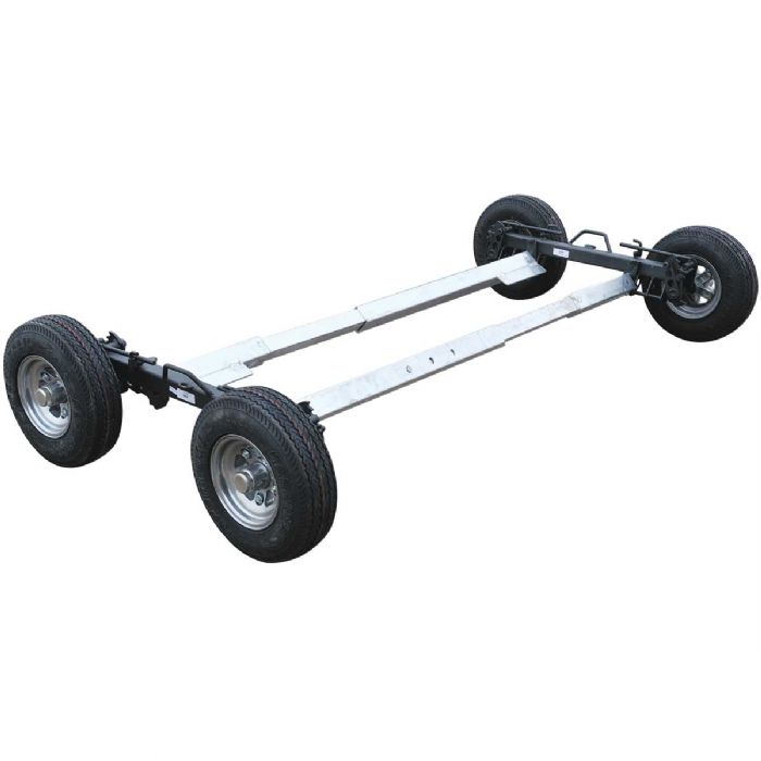 In The Ditch Speed Dolly Set - Black with Aluminum Wheels 4.80 X 8 Tires
